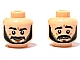 Lot ID: 31904412  Part No: 3626bpb418  Name: Minifig, Head Dual Sided Black Beard, Bushy Eyebrows, Grin / Worried Pattern