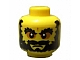 Lot ID: 31904434  Part No: 3626bpb614  Name: Minifig, Head Beard Black Bushy Eyebrows, Angry Mouth, White Pupils Pattern